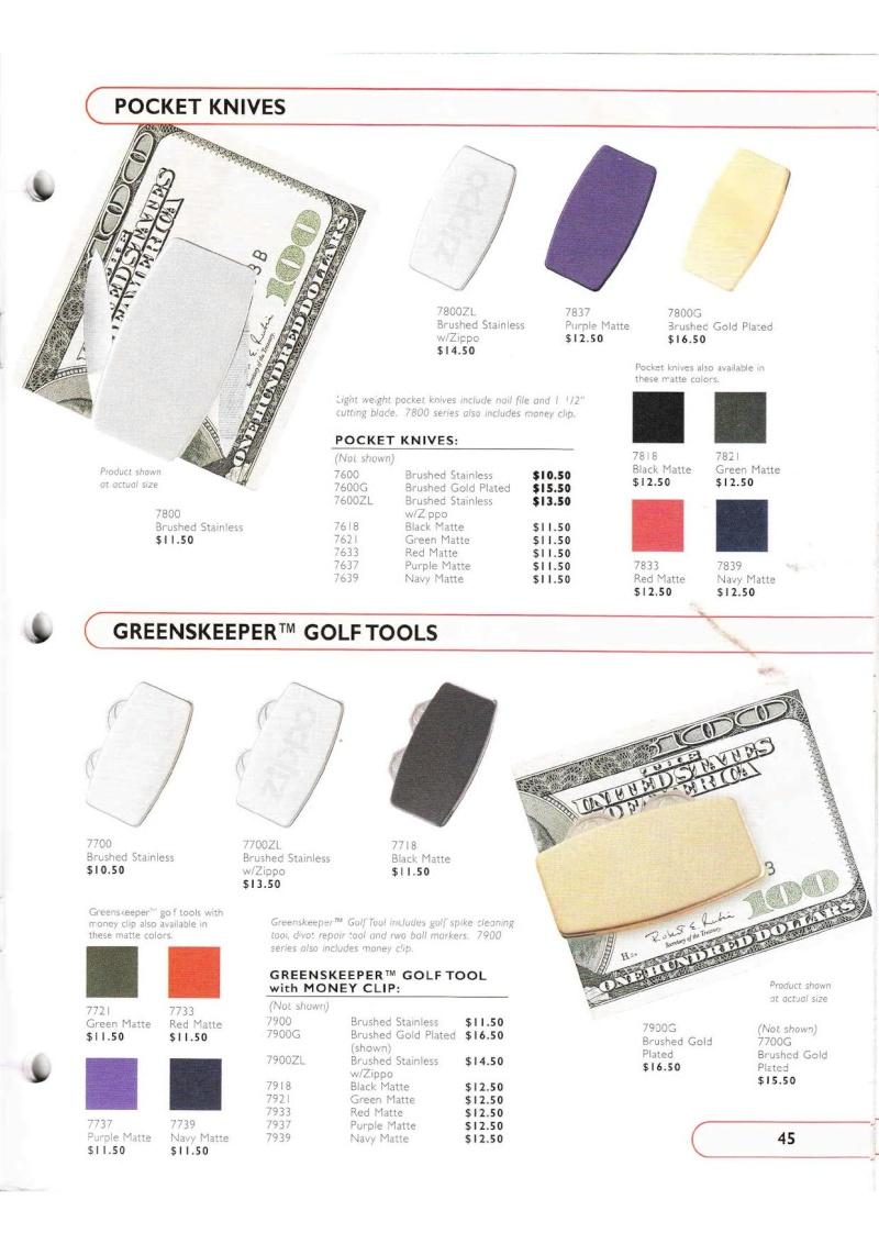 Catalogue ZIPPO Collection 2002 (version américaine) 4515