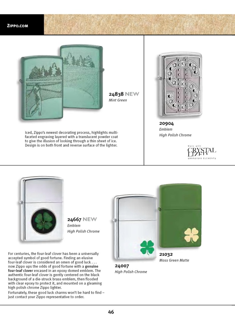 Catalogue ZIPPO 2010 Complete line (version américaine) 4612
