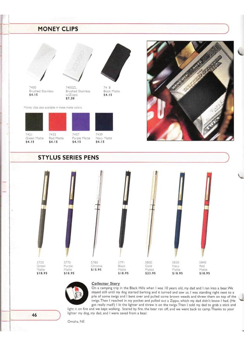 Catalogue ZIPPO Collection 2002 (version américaine) 4614