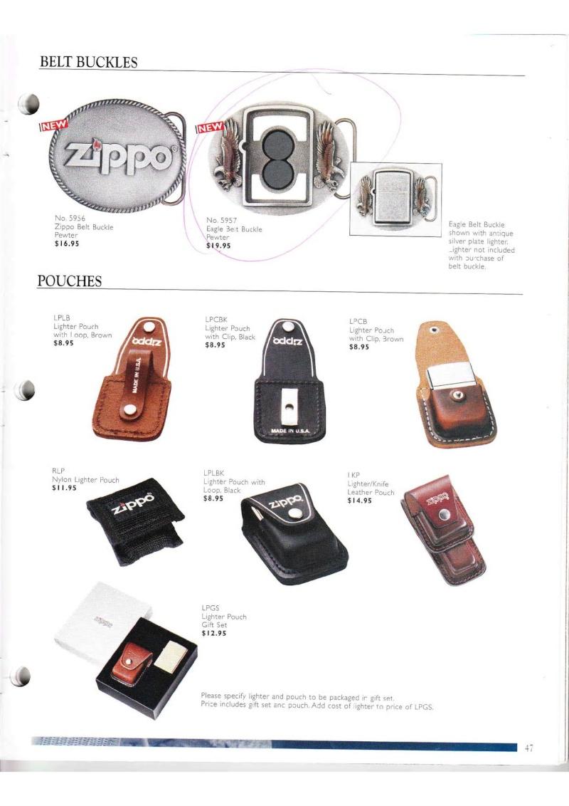 Catalogue ZIPPO Collection 2000 (version américaine) 4713