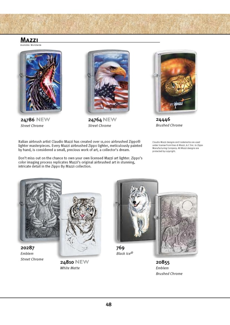 Catalogue ZIPPO 2010 Complete line (version américaine) 4812