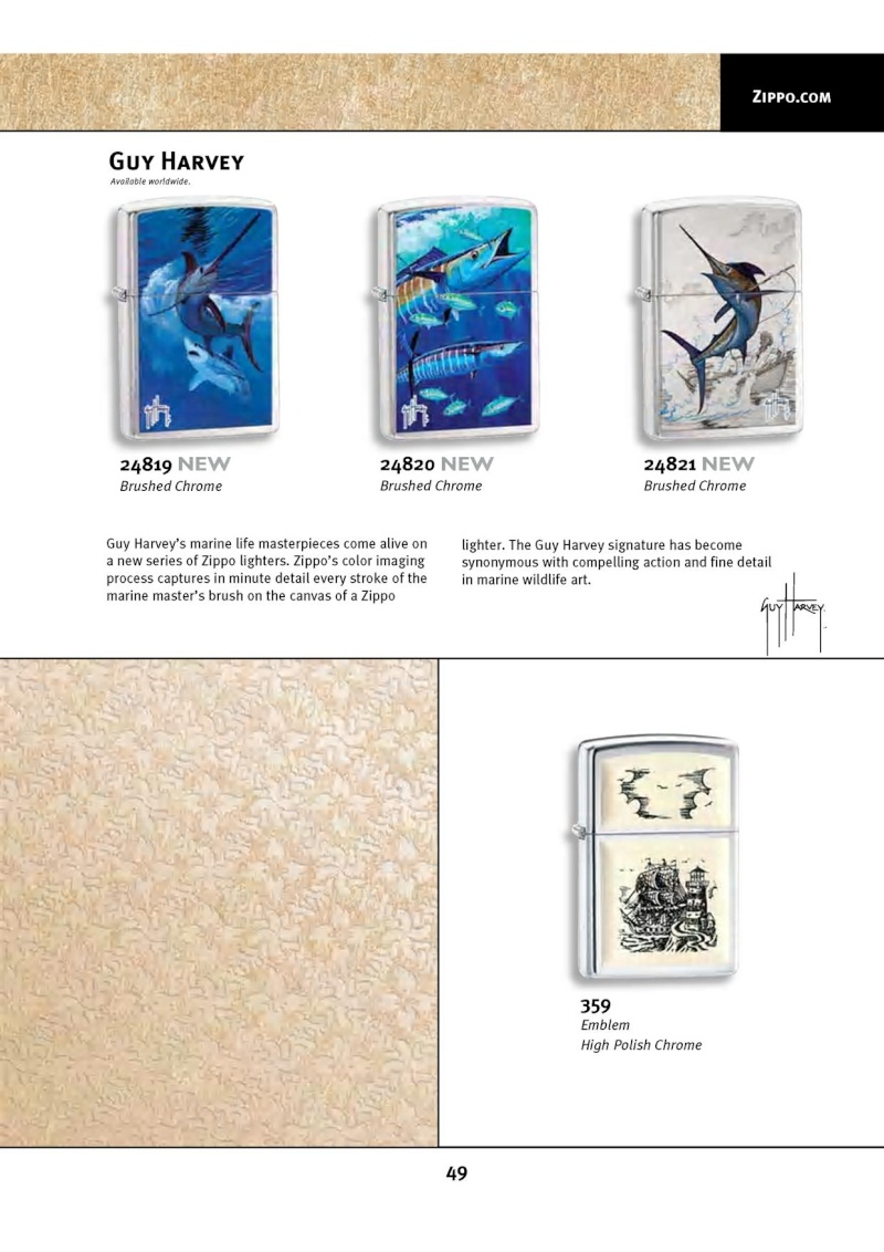 Catalogue ZIPPO 2010 Complete line (version américaine) 4912
