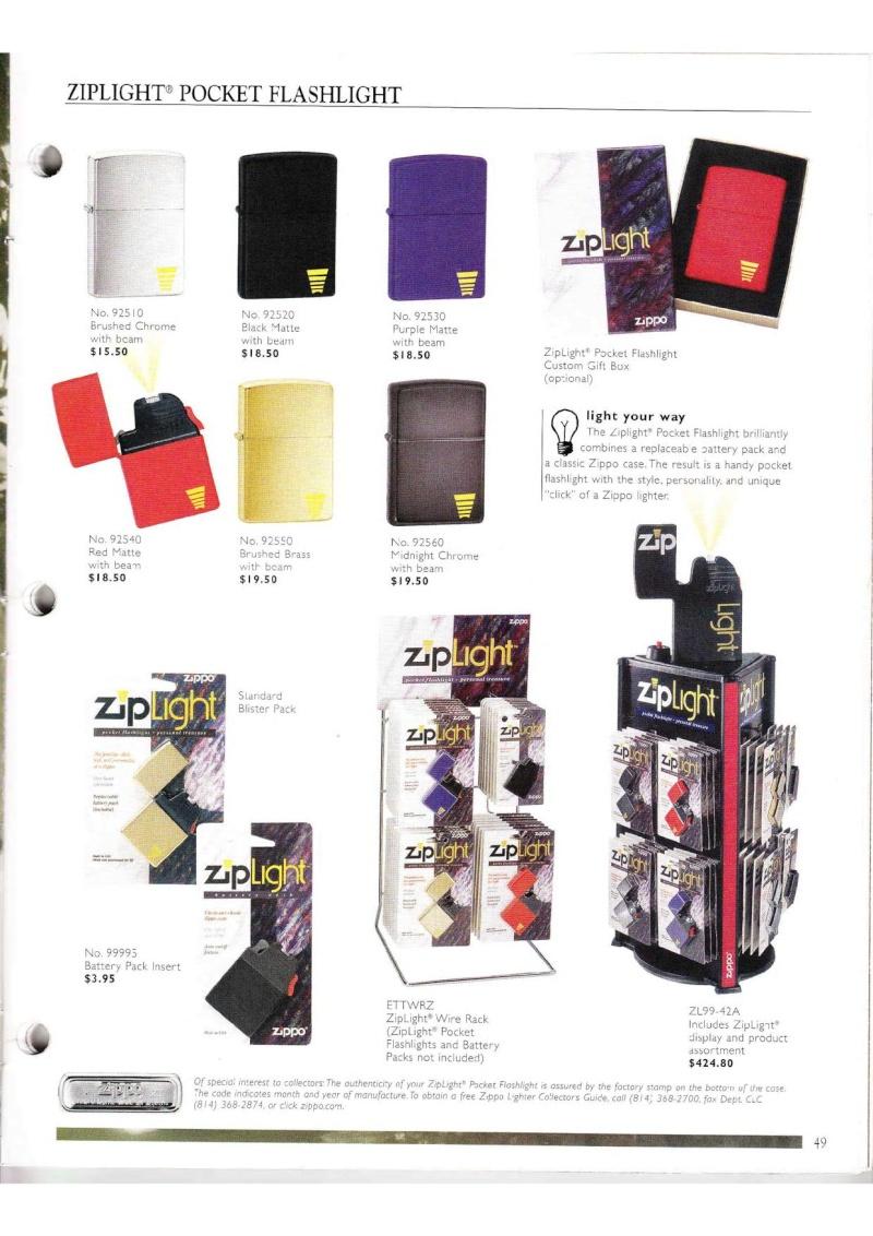 Catalogue ZIPPO Collection 2000 (version américaine) 4913