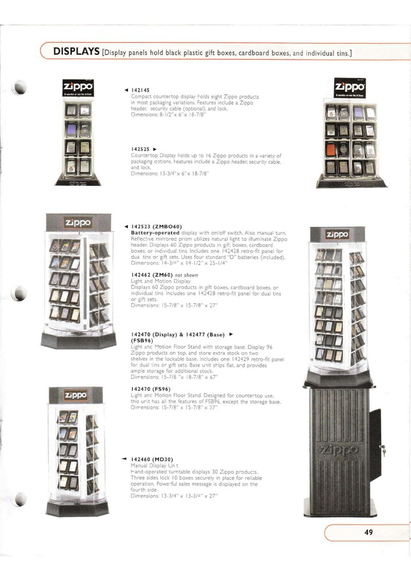 Catalogue ZIPPO Collection 2002 (version américaine) 4914