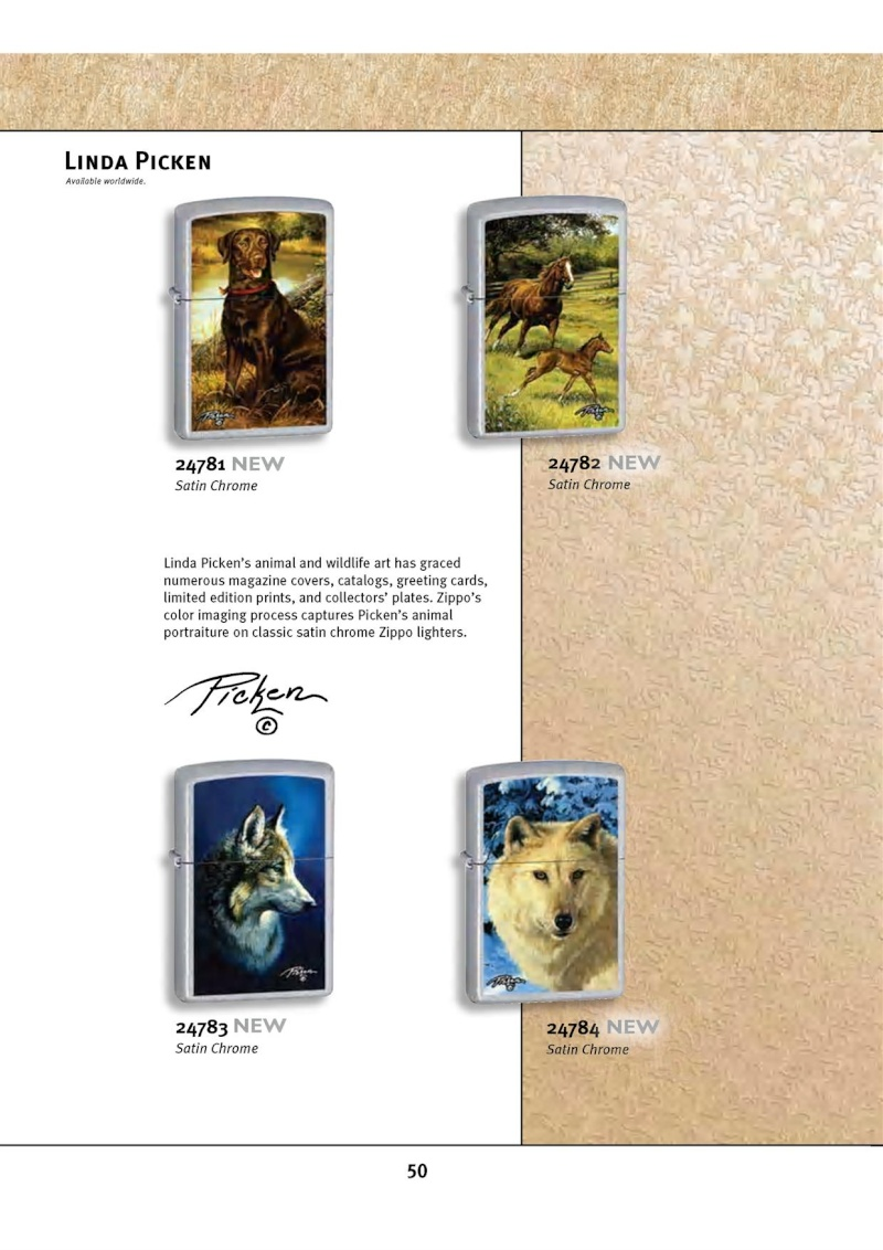 Catalogue ZIPPO 2010 Complete line (version américaine) 5012