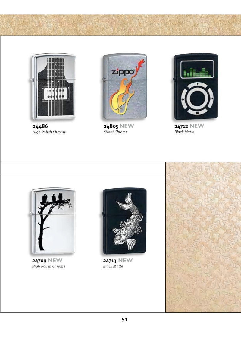 Catalogue ZIPPO 2010 Complete line (version américaine) 5112