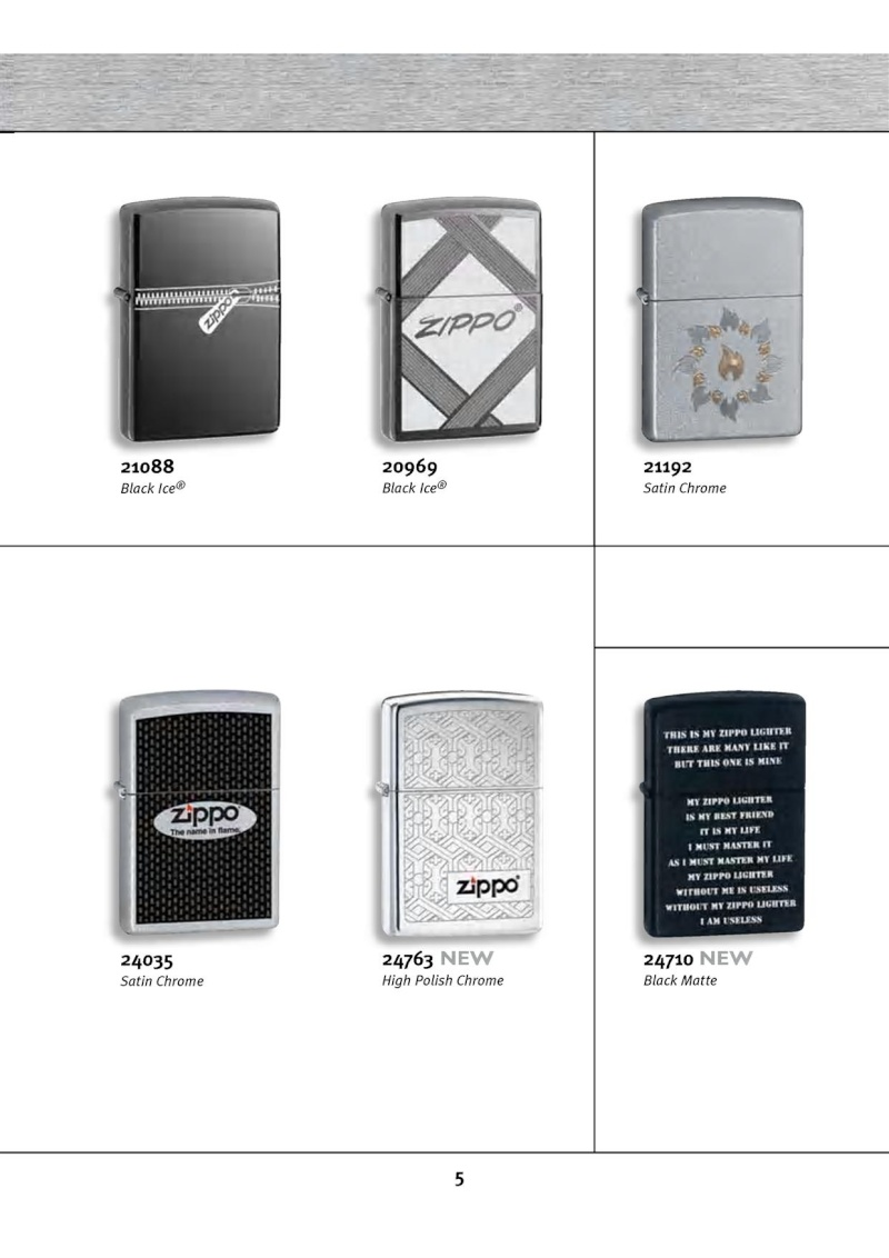 Catalogue ZIPPO 2010 Complete line (version américaine) 513
