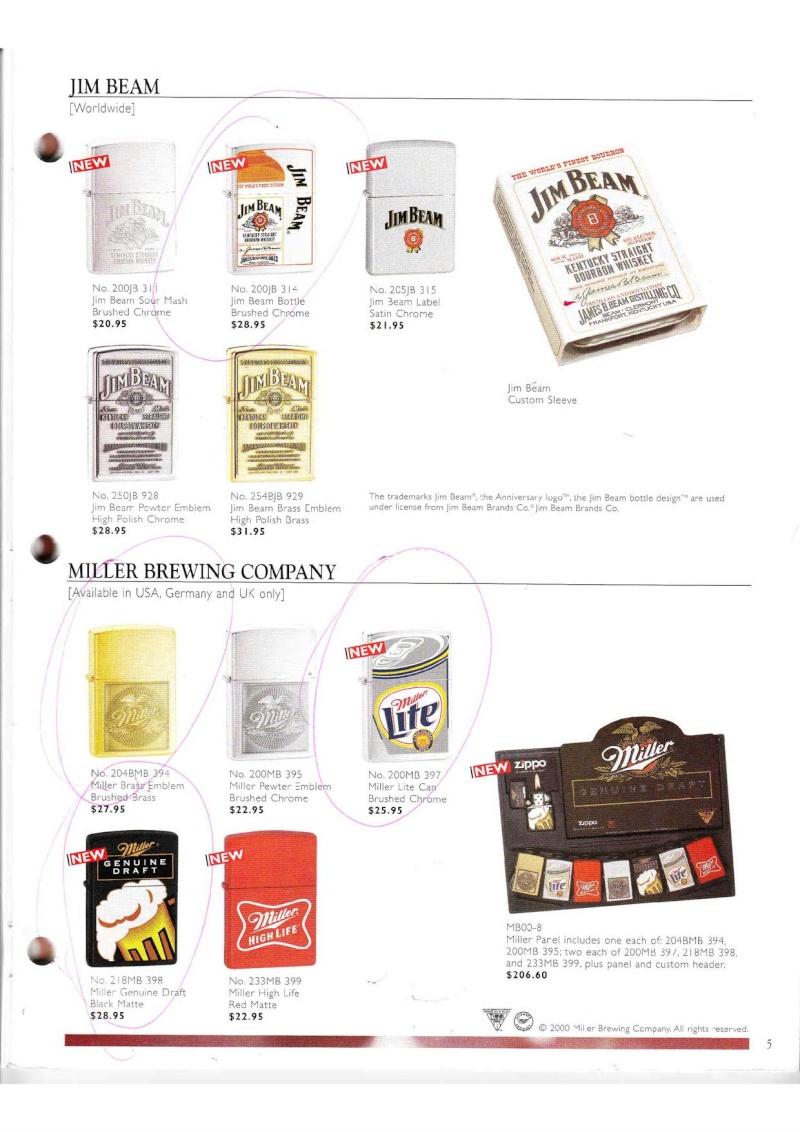 Catalogue ZIPPO Collection 2000 (version américaine) 514