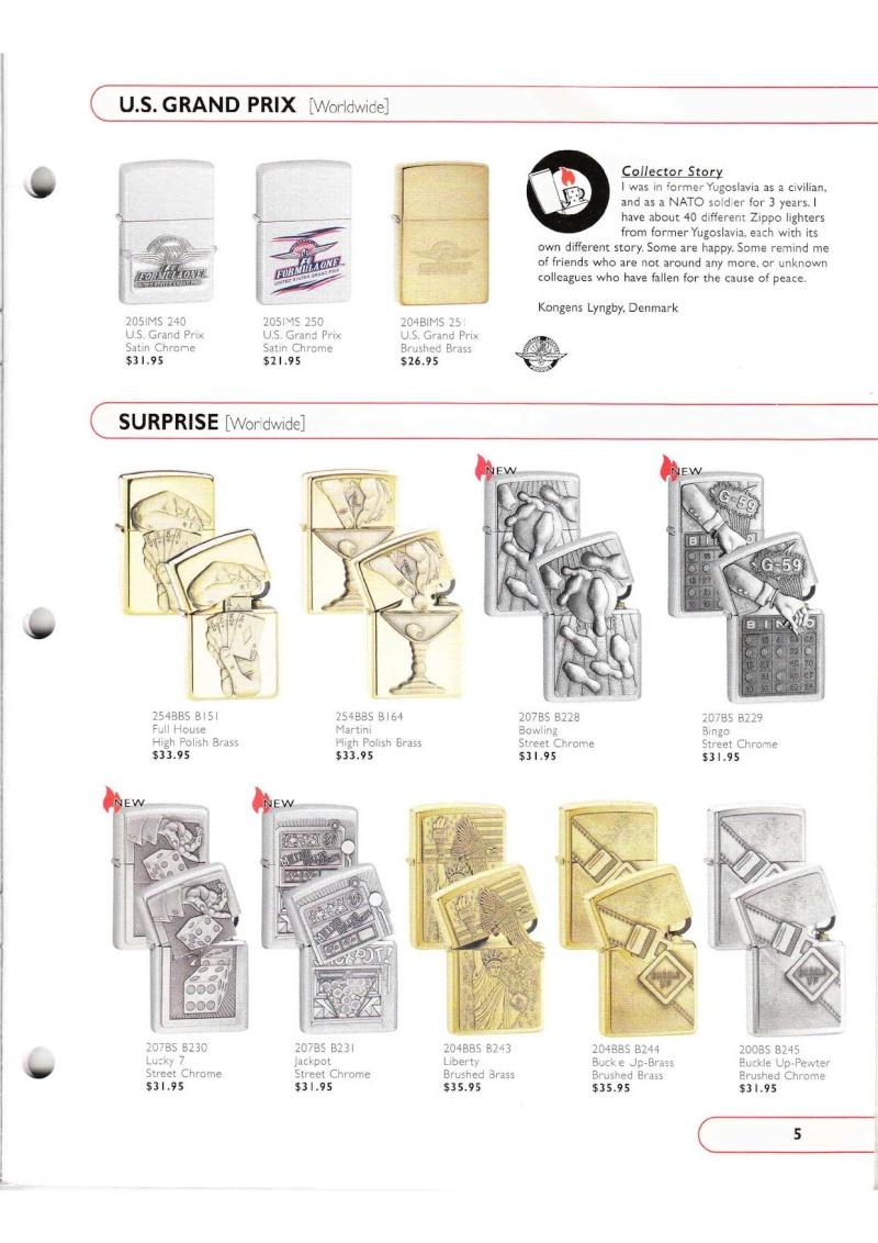 Catalogue ZIPPO Collection 2002 (version américaine) 515