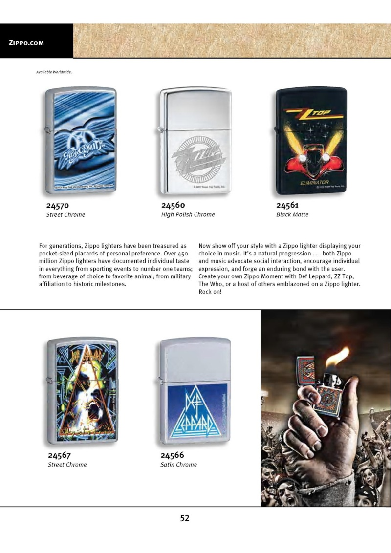 Catalogue ZIPPO 2010 Complete line (version américaine) 5212