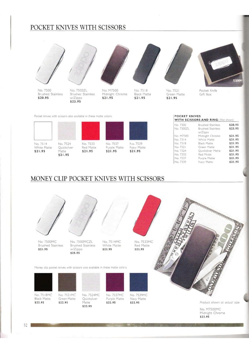 Catalogue ZIPPO Collection 2000 (version américaine) 5213