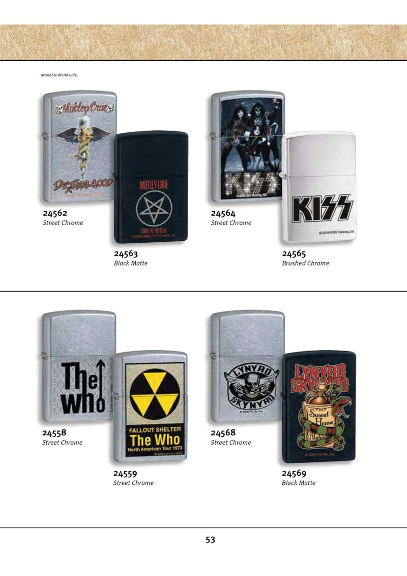 Catalogue ZIPPO 2010 Complete line (version américaine) 5312