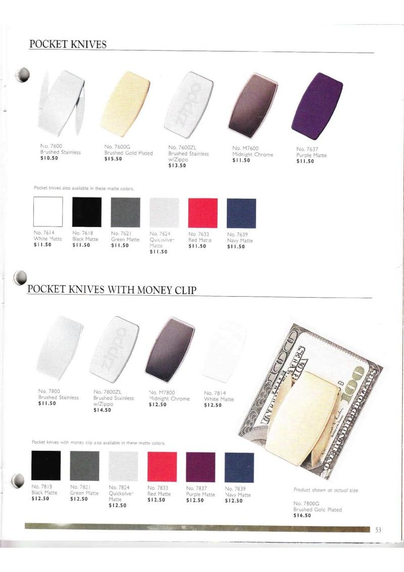 Catalogue ZIPPO Collection 2000 (version américaine) 5313