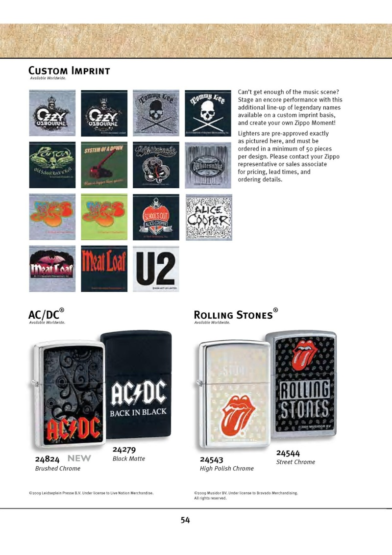 Catalogue ZIPPO 2010 Complete line (version américaine) 5412