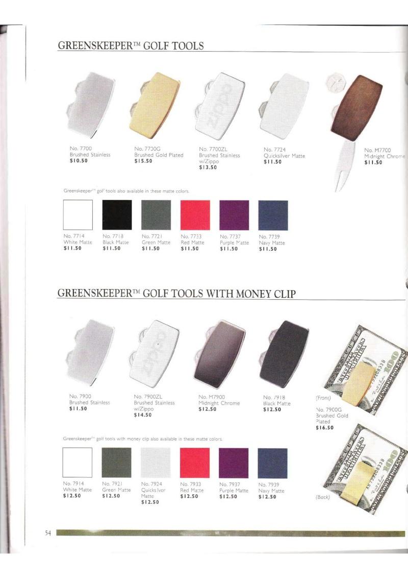 Catalogue ZIPPO Collection 2000 (version américaine) 5413