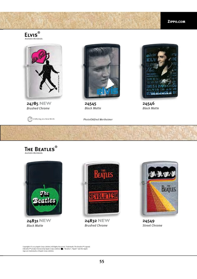 Catalogue ZIPPO 2010 Complete line (version américaine) 5512