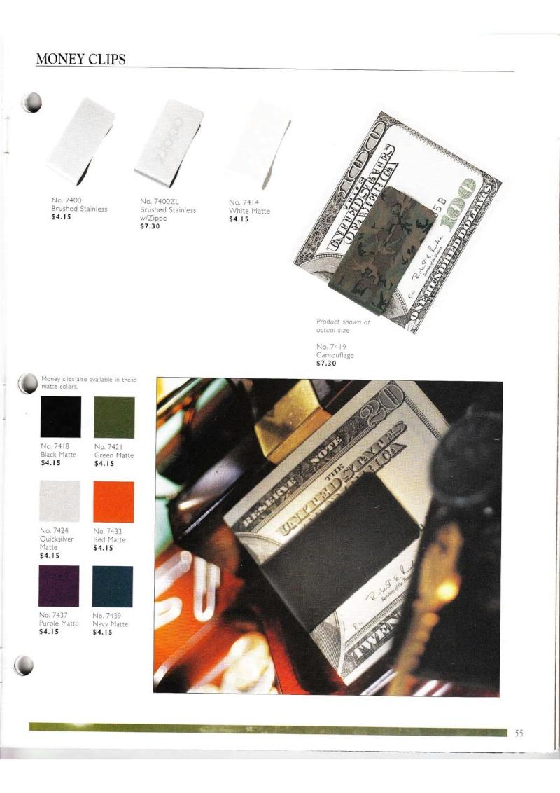 Catalogue ZIPPO Collection 2000 (version américaine) 5513