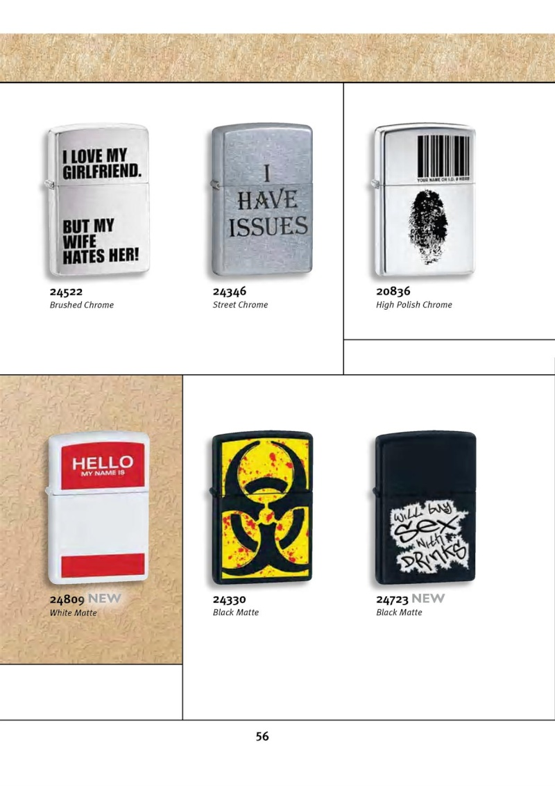 Catalogue ZIPPO 2010 Complete line (version américaine) 5612