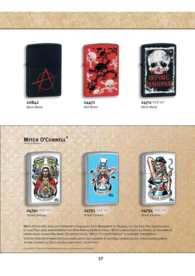 Catalogue ZIPPO 2010 Complete line (version américaine) 5712