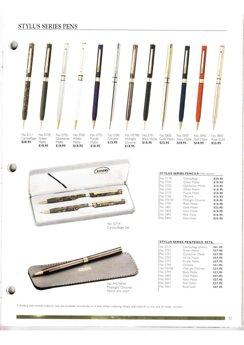 Catalogue ZIPPO Collection 2000 (version américaine) 5713