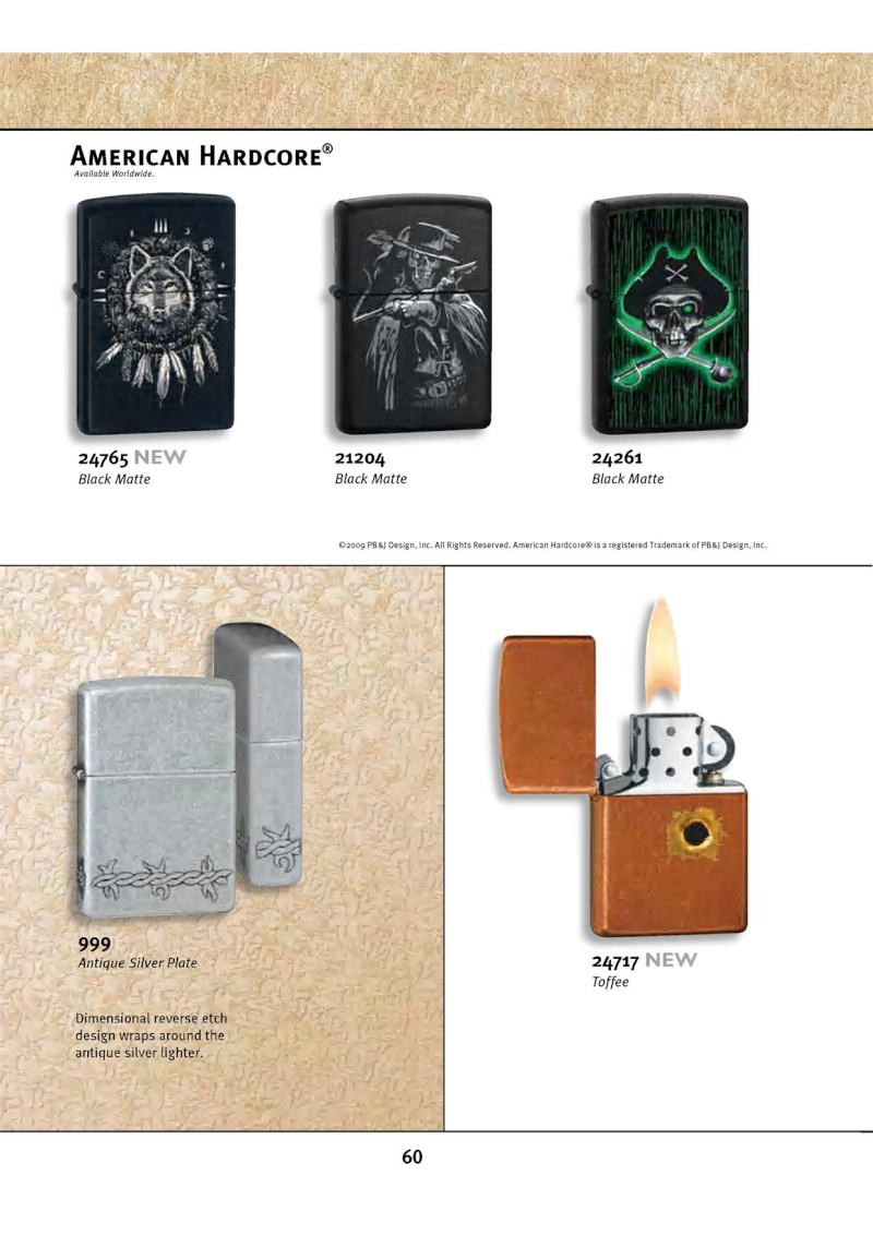 Catalogue ZIPPO 2010 Complete line (version américaine) 6012