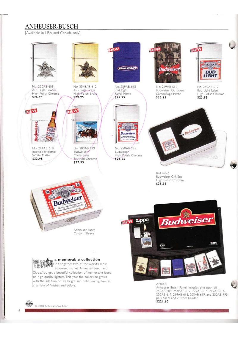 Catalogue ZIPPO Collection 2000 (version américaine) 614