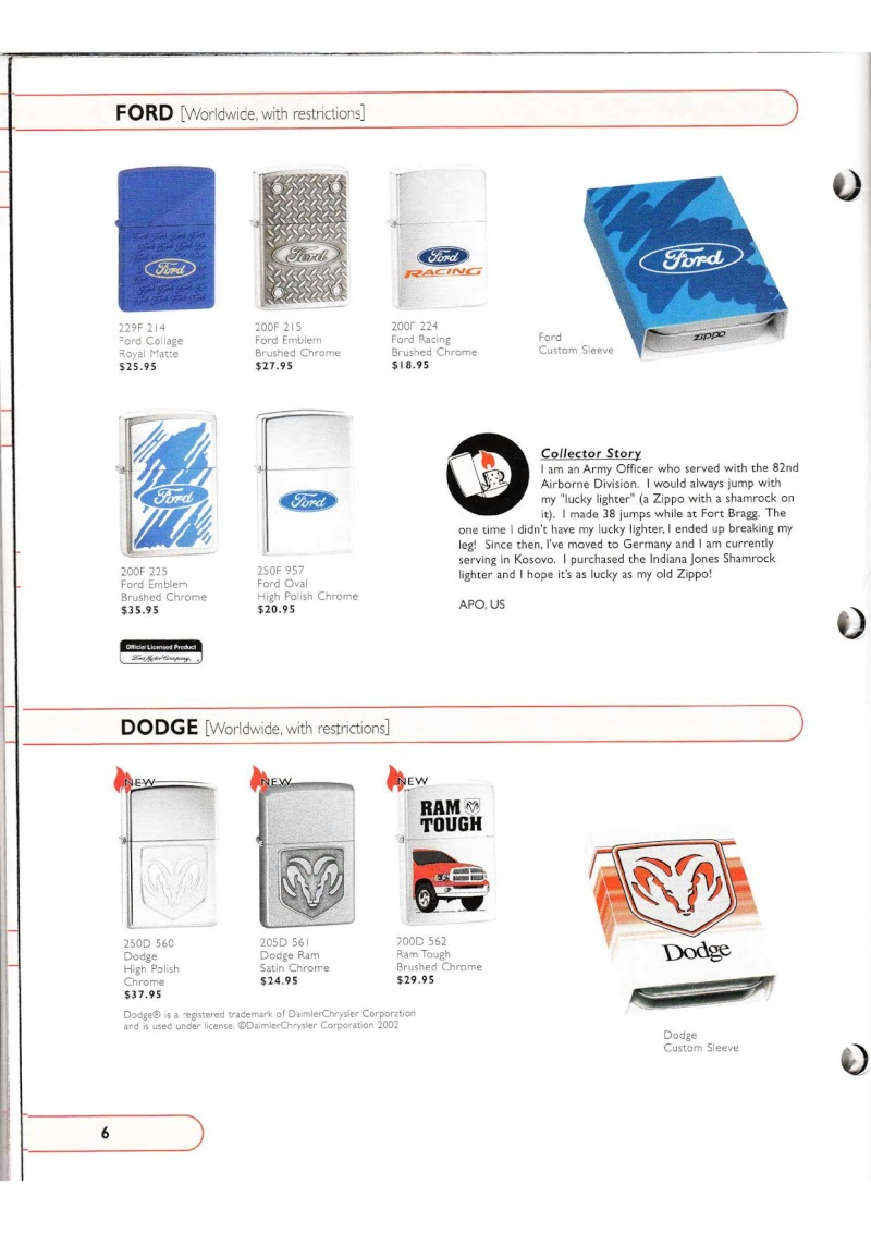 Catalogue ZIPPO Collection 2002 (version américaine) 615