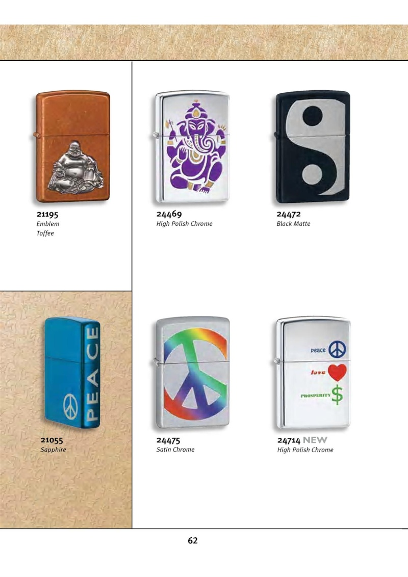Catalogue ZIPPO 2010 Complete line (version américaine) 6211