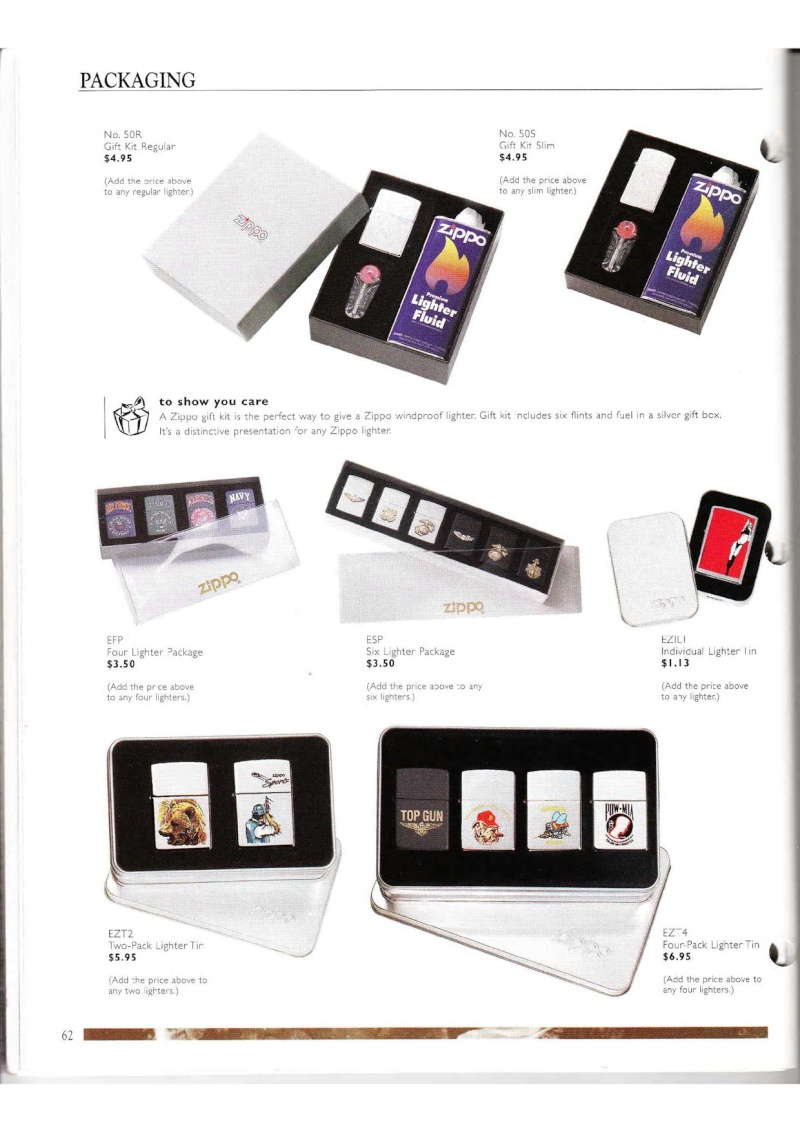 Catalogue ZIPPO Collection 2000 (version américaine) 6212