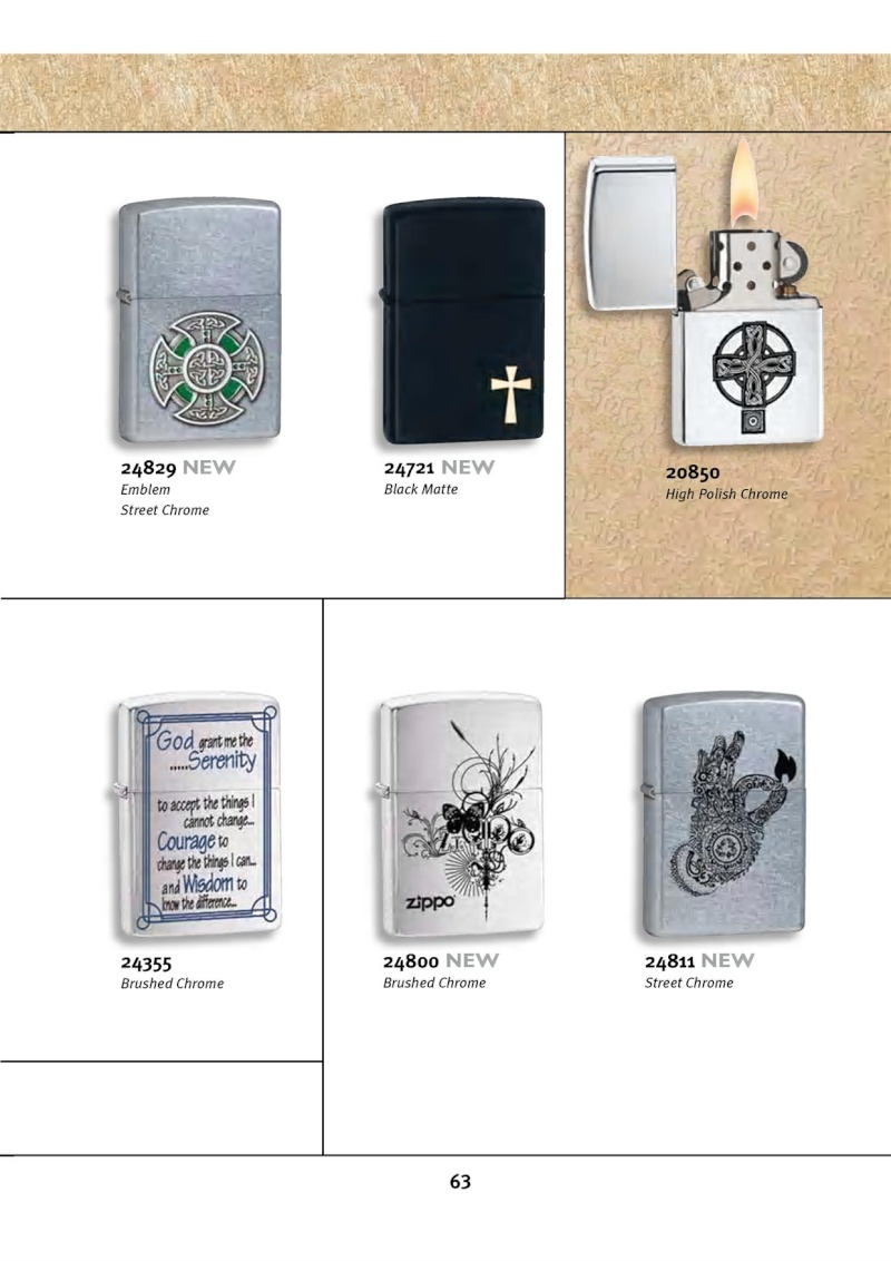 Catalogue ZIPPO 2010 Complete line (version américaine) 6311