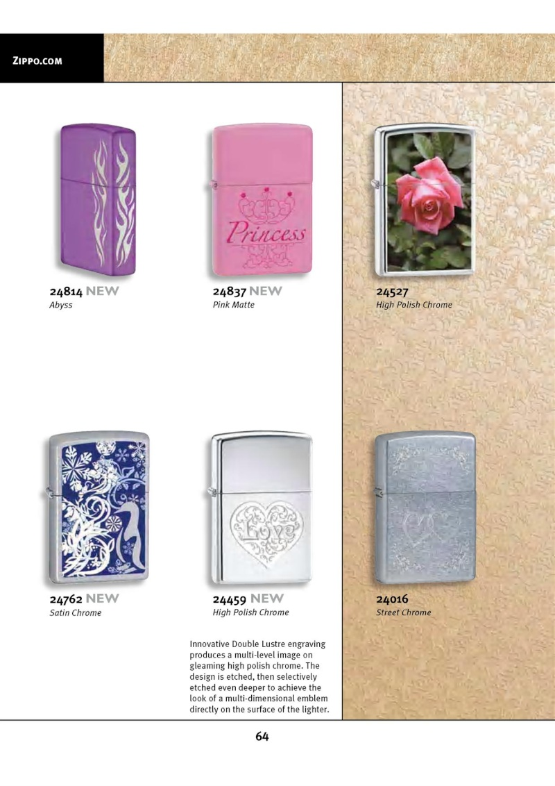 Catalogue ZIPPO 2010 Complete line (version américaine) 6411
