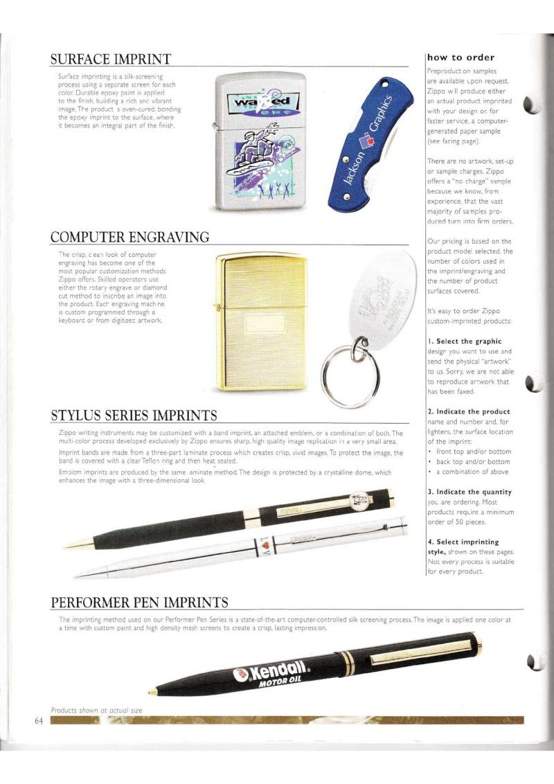 Catalogue ZIPPO Collection 2000 (version américaine) 6412