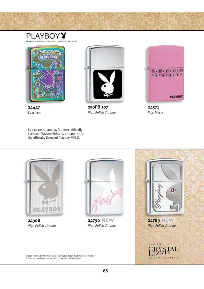 Catalogue ZIPPO 2010 Complete line (version américaine) 6511