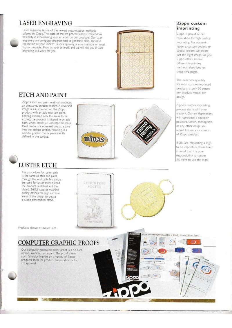 Catalogue ZIPPO Collection 2000 (version américaine) 6512