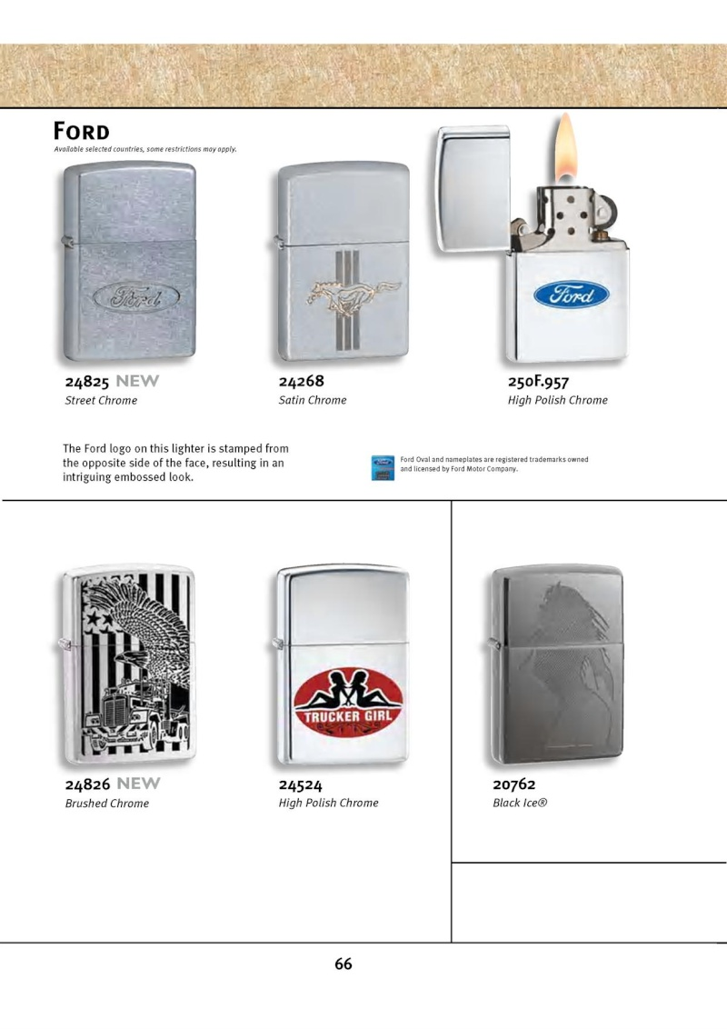 Catalogue ZIPPO 2010 Complete line (version américaine) 6612