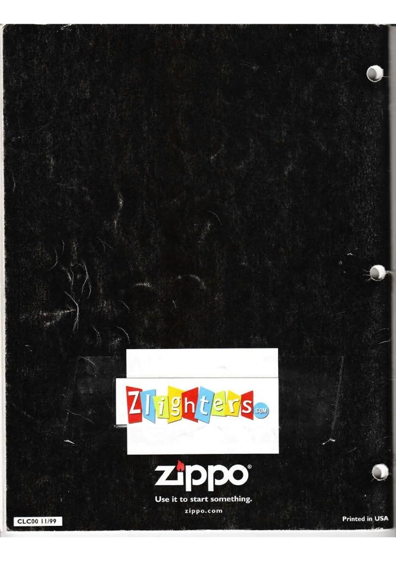 Catalogue ZIPPO Collection 2000 (version américaine) 6613