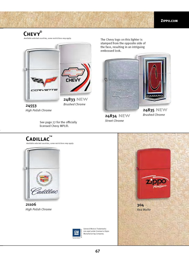 Catalogue ZIPPO 2010 Complete line (version américaine) 6711