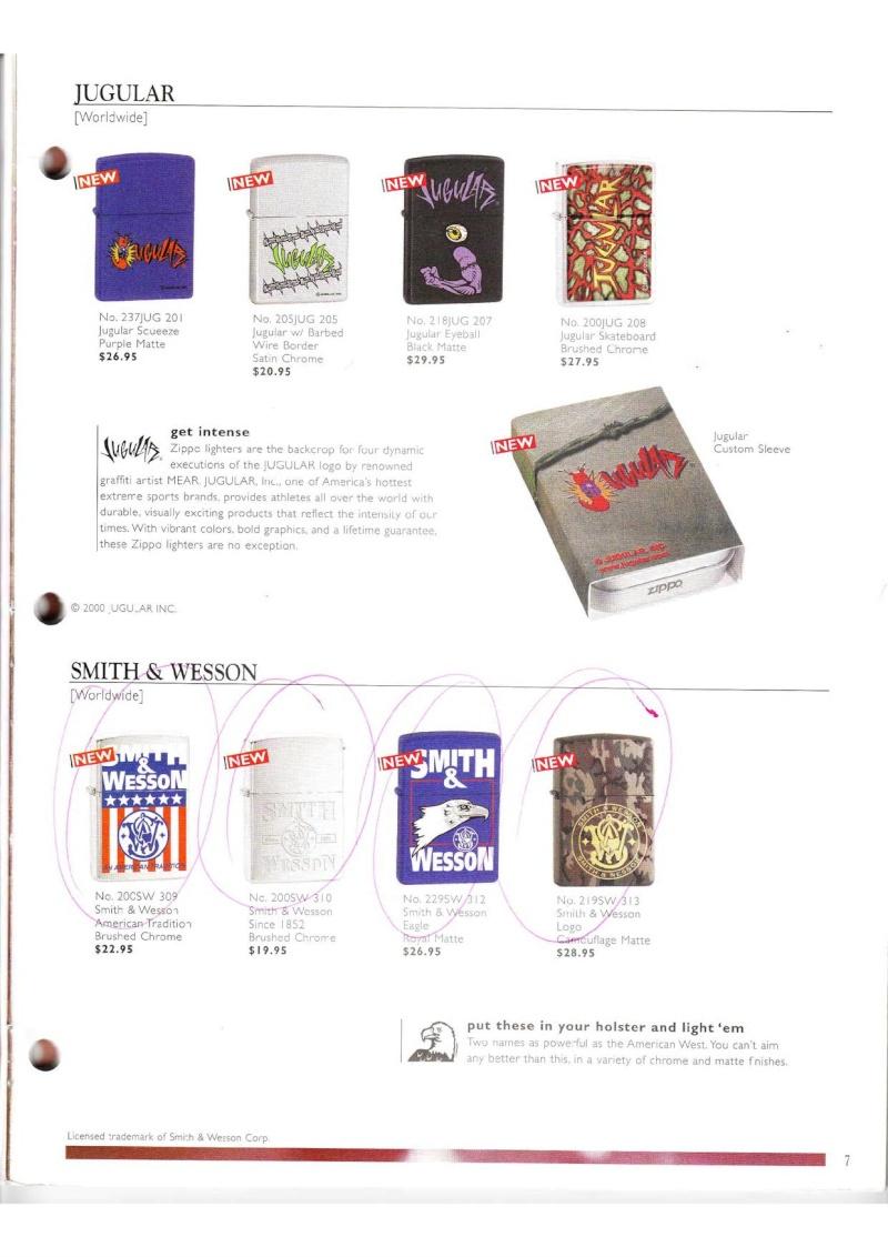 Catalogue ZIPPO Collection 2000 (version américaine) 714