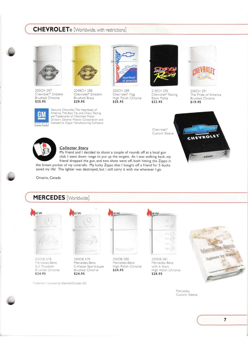 Catalogue ZIPPO Collection 2002 (version américaine) 715