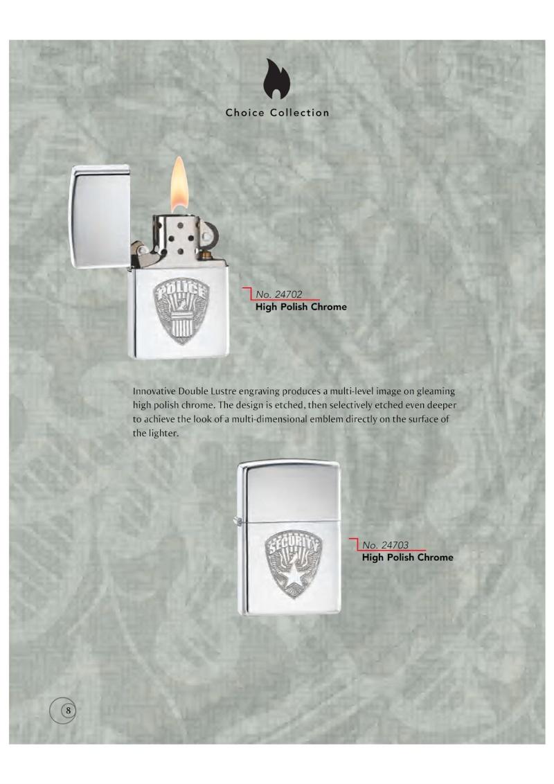 Catalogue ZIPPO 2009/10 Choice (version américaine) 811