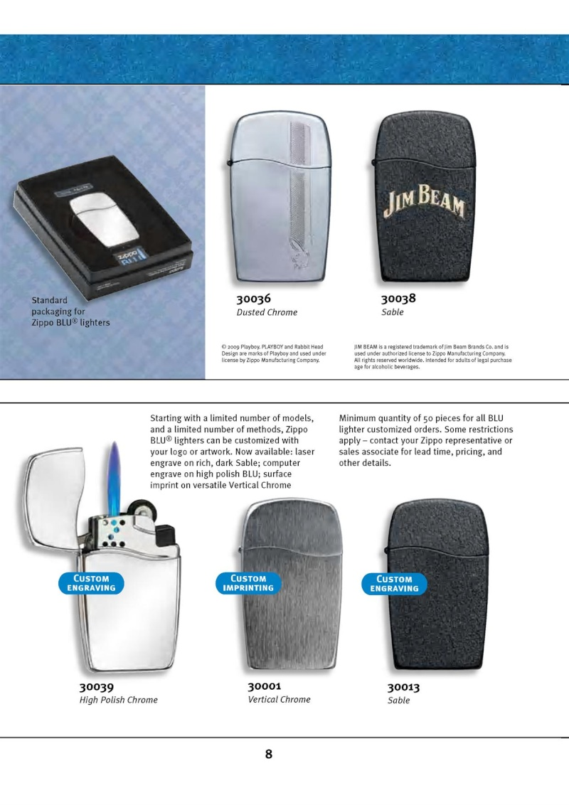 Catalogue ZIPPO 2010 Complete line (version américaine) 813