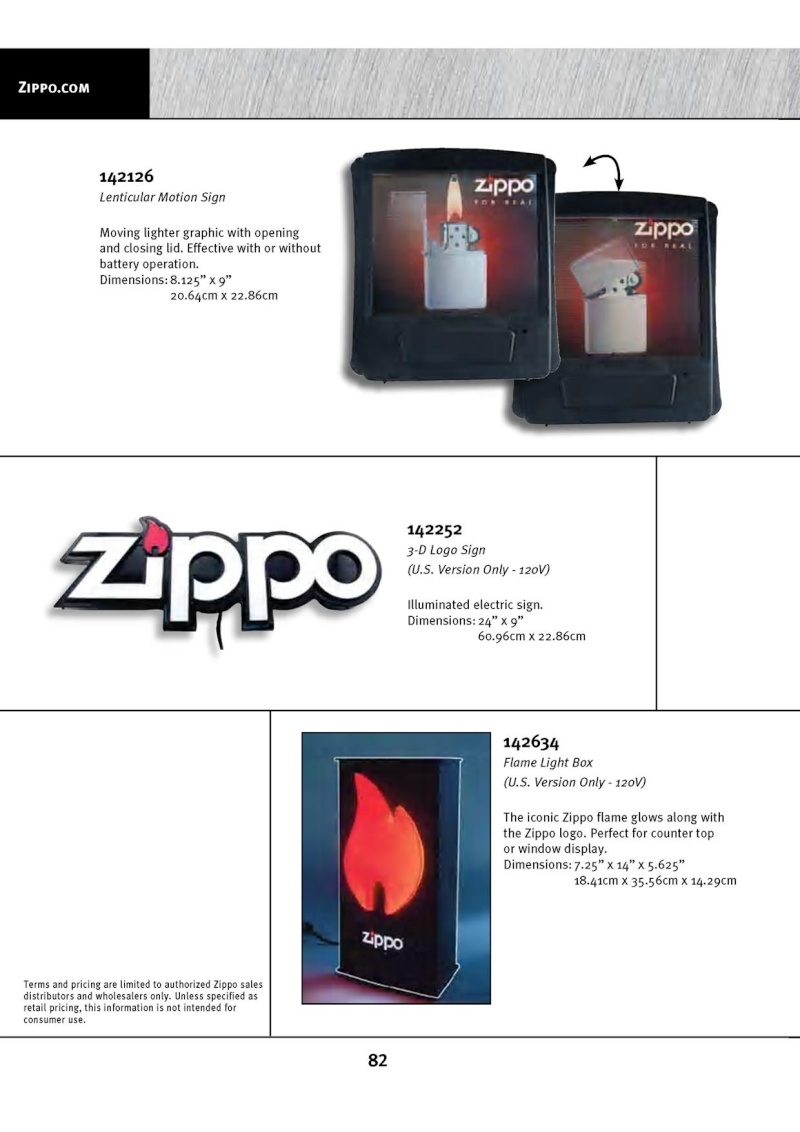 Catalogue ZIPPO 2010 Complete line (version américaine) 8210