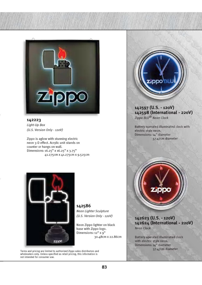 Catalogue ZIPPO 2010 Complete line (version américaine) 8310