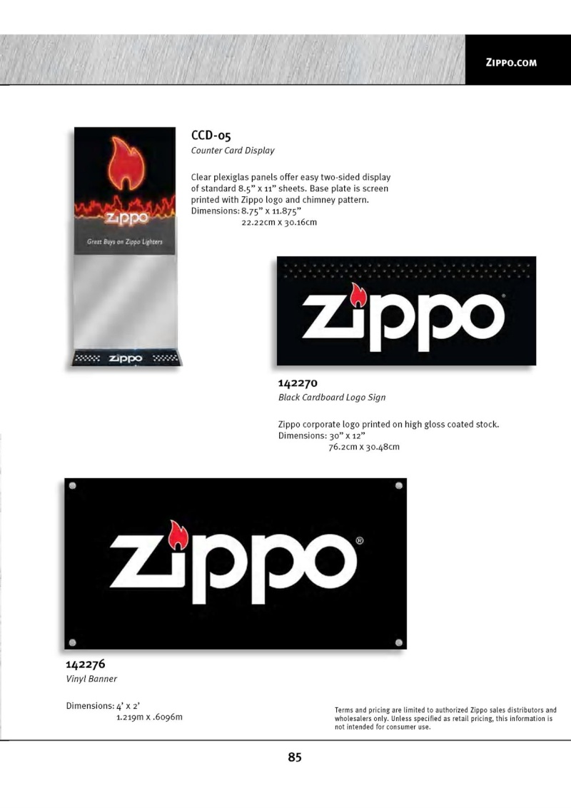 Catalogue ZIPPO 2010 Complete line (version américaine) 8510