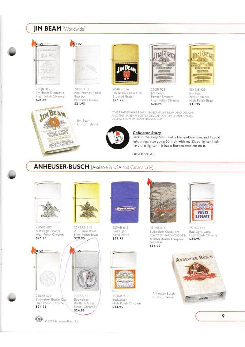 Catalogue ZIPPO Collection 2002 (version américaine) 915
