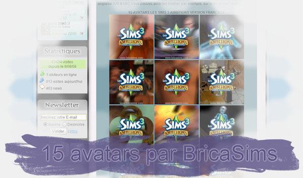 15 avatars Les Sims 3 Ambitions par BricaSims Avatar10