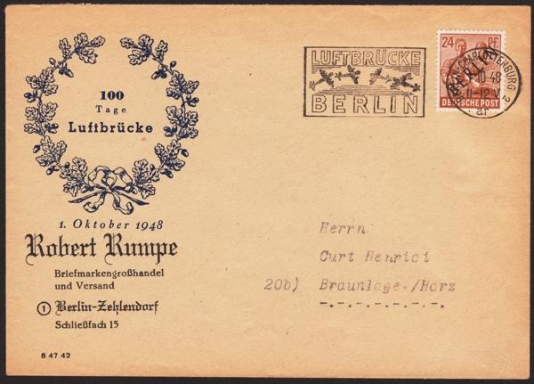 Brief 100 Tage Luftbrücke Berlin 1948_110