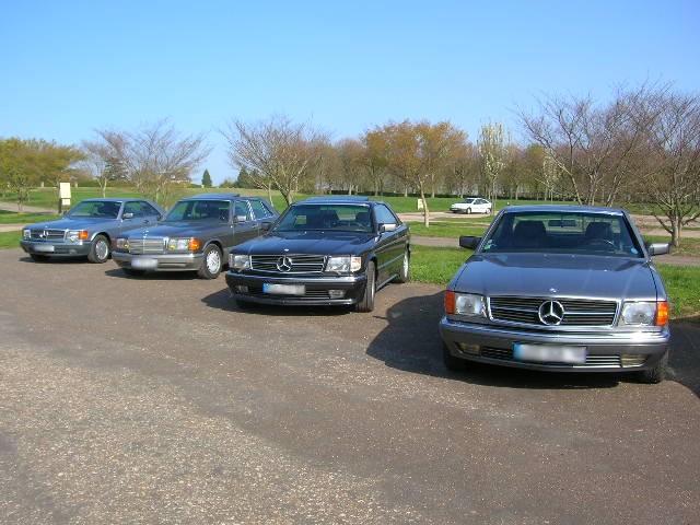 Dimanche 18 avril 2010 : Rencontre Mercedes W 126 proposée par le Club Mercedes Benz de France - Page 3 Dscn4242