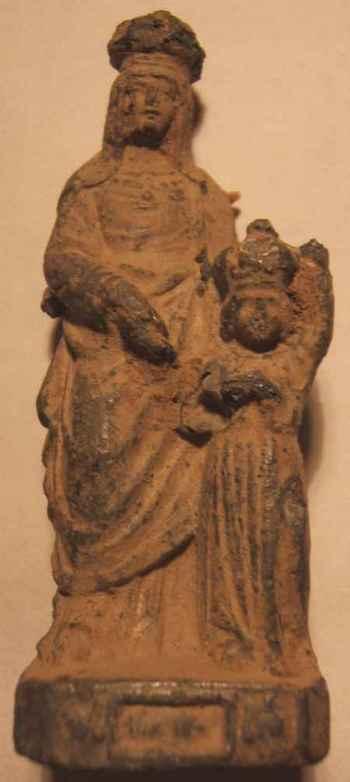 Statuette Ste-Anne en régule - XXème St_ann10