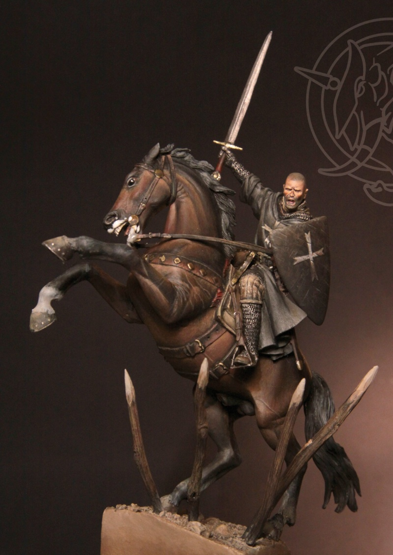 Brother Knight of the Hospitaler Order – Early XIII C. (54mm) Osp-3w10